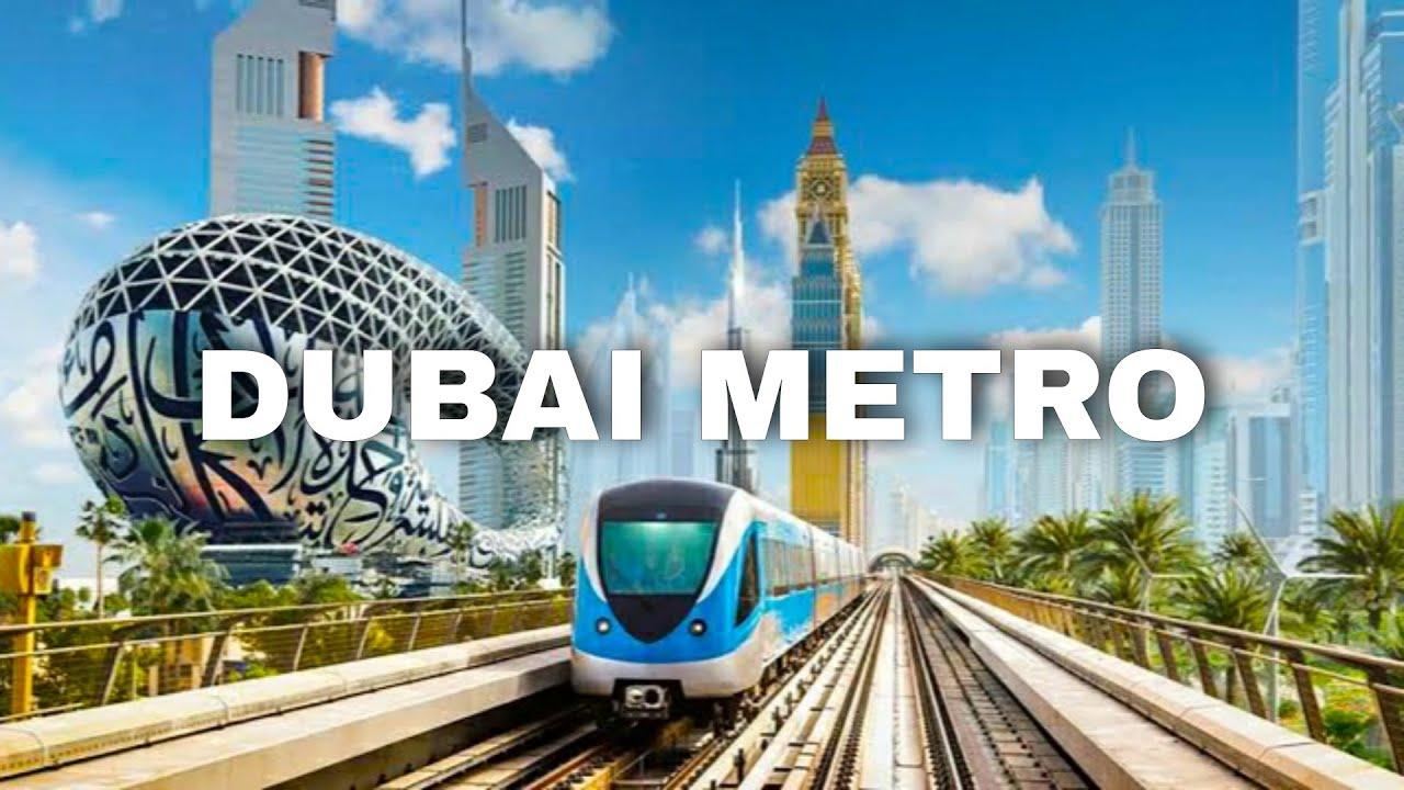 The Dubai Metro - 4K Travel Tour | Dubai World Trade Center Station to The Gardens Metro Station