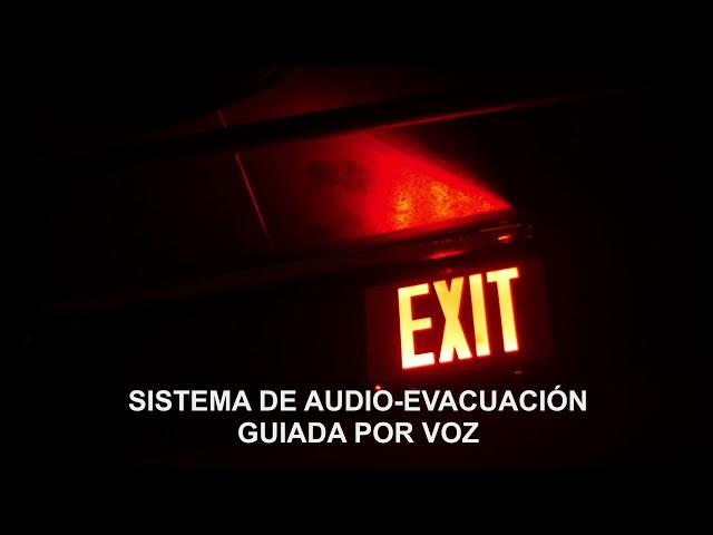 Sistema de audioevacuacion guiada por voz