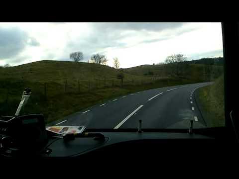 Simrishamn to Kristianstad (Sweden) in a Volvo 9700