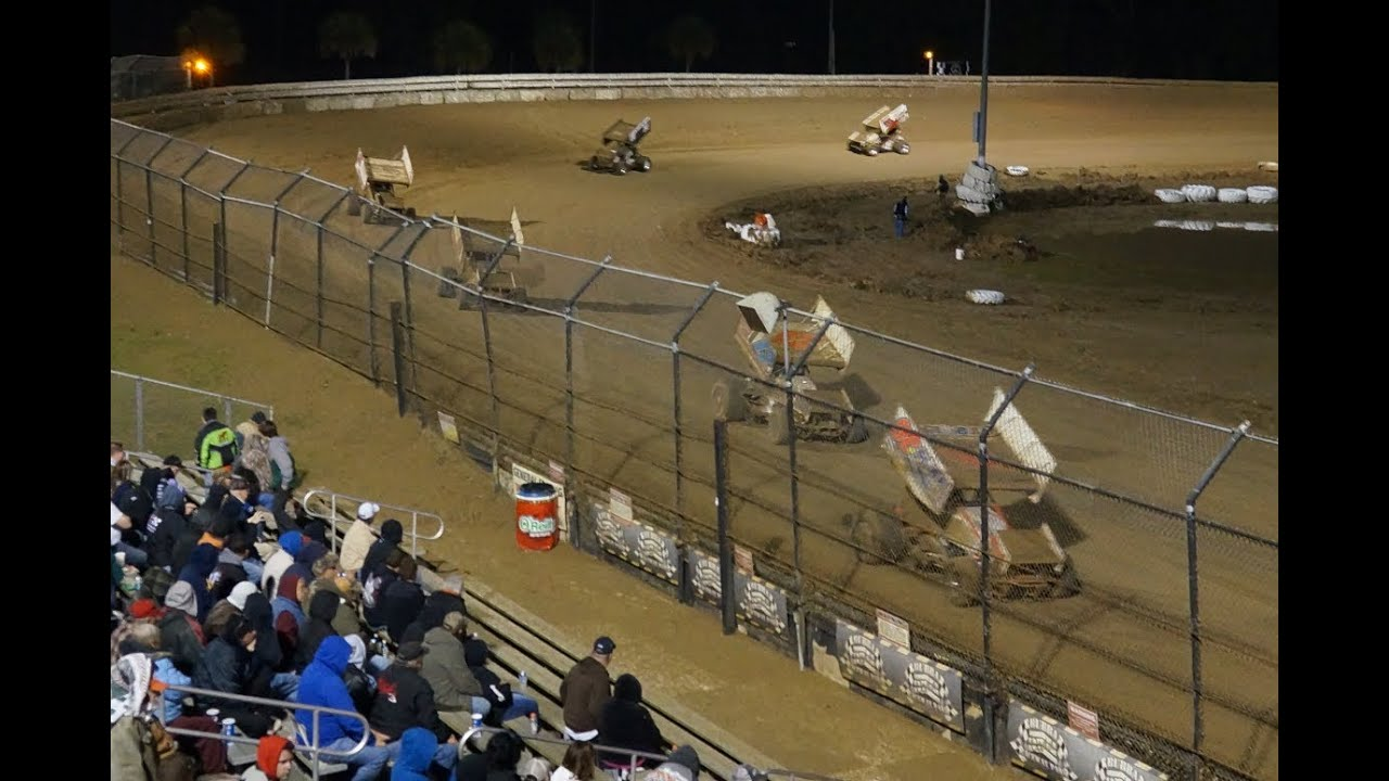 Bubba Raceway Park >> All Stars at Bubba Raceway Park, Feature Race, 2-9-2014 - YouTube