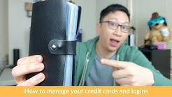 How to Manage Your Credit Cards and Logins