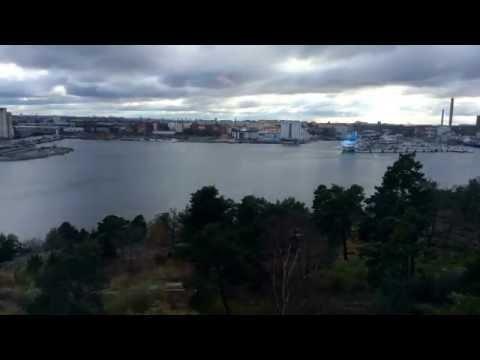 M/S Galaxy docked at Stockholm Värtahamnen port (Time Lapse)