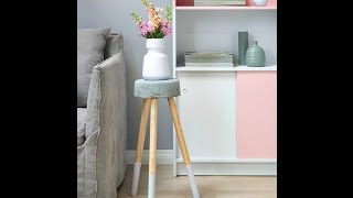 Create With Paint: Concrete Bedside Table