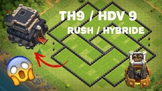 🔴 Clash Of Clans - SPEED BUILDING TH9 RUSH/HYBRID | HDV 9 RUSH/HYBRIDE