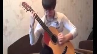 16 летний парень играет Нирвану в оригинальной аранжировке
