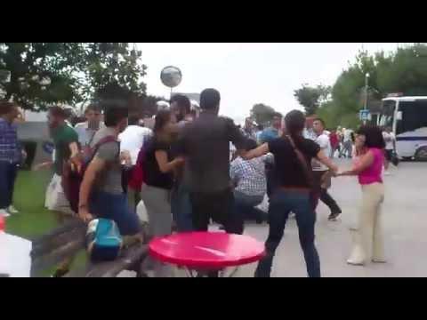 YTÜ'deki polis saldırısının görüntüleri (05.08.2015)