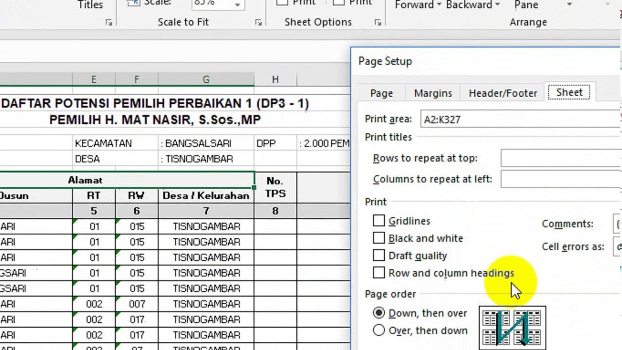 Cara Membuat Judul Tabel Excel 2019 Berulang Otomatis di ...