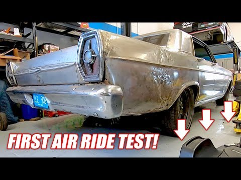 Our Diesel Powered Ford Galaxie Now Has AIR BAG Suspension!... Well Sorta