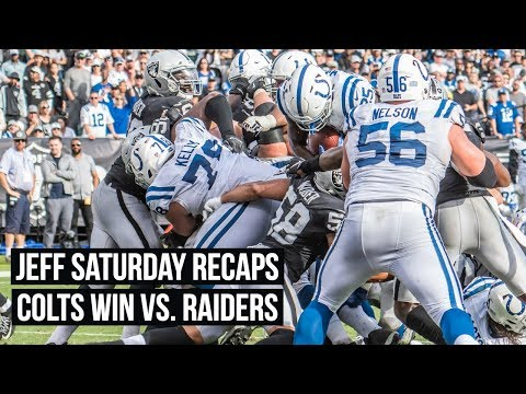"""""""The Colts Offensive Line Is Moving People"""" Jeff Saturday Recaps Week 8"""