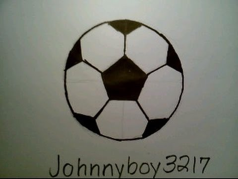 How to draw a soccer ball como dibujar una pelota de futbol fifa football player goal field youtube