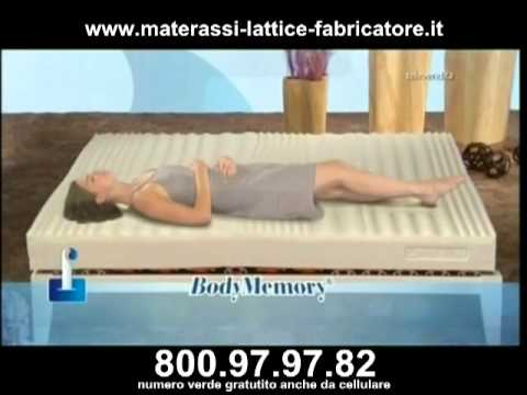 Materassi Lattice E Memory Foam.Materasso Lattice E Menory Fabricatore Youtube