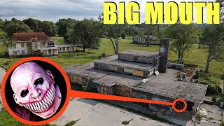 drone catches Big Mouth the Demon at this abandoned Prison Jail (we found him)