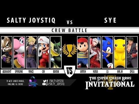 The Smash 4 Invitational - Crew Battle - Team Salty Joystiq vs Team SYE