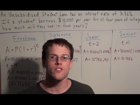 Calculating Student Loan Interest - YouTube
