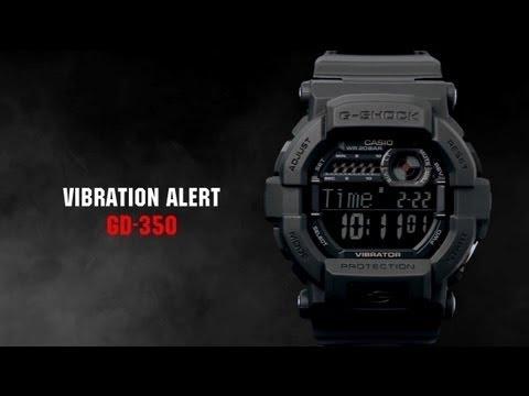 64fe6d8038d Relógio Casio Masculino G-Shock GD-350BR-1DR - Eclock - YouTube