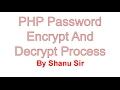 PHP Password Encrypt Decrypt