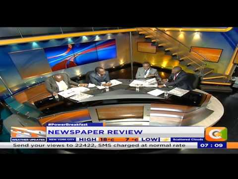 Power Breakfast: Newspaper review: Who will save Wetangula?