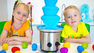 Gaby and Alex put up Blue Chocolate kids Food Challenge