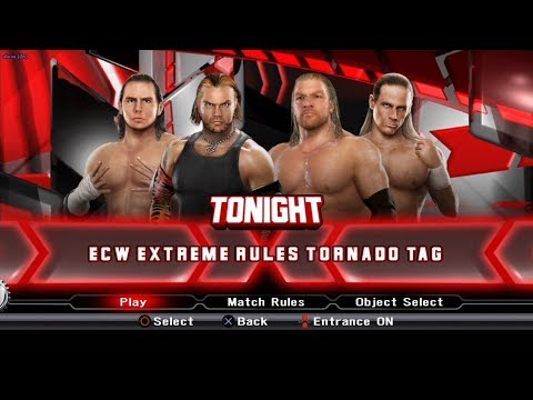 WWE SmackDown VS Raw 2009 PS3 Gameplay - The Hardy Boyz VS Degeneration X [60FPS][FullHD]