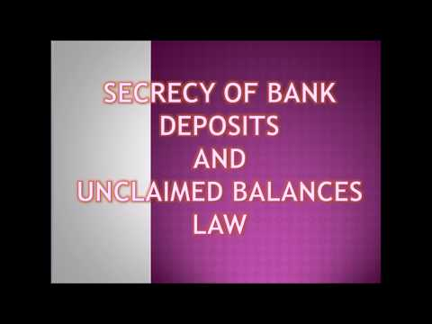 New BLT Law topics CPA exam: Bank Secrecy Law and Unclaim Balance