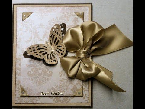 Wedding Or Special Occasion Elegant Handmade Card