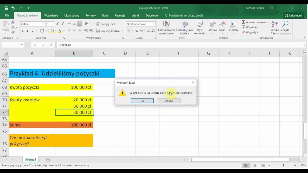 Excel   Funkcja JE?ELI   20 przyk?adów