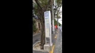 南海バス東山営業所 特5系統 バス停