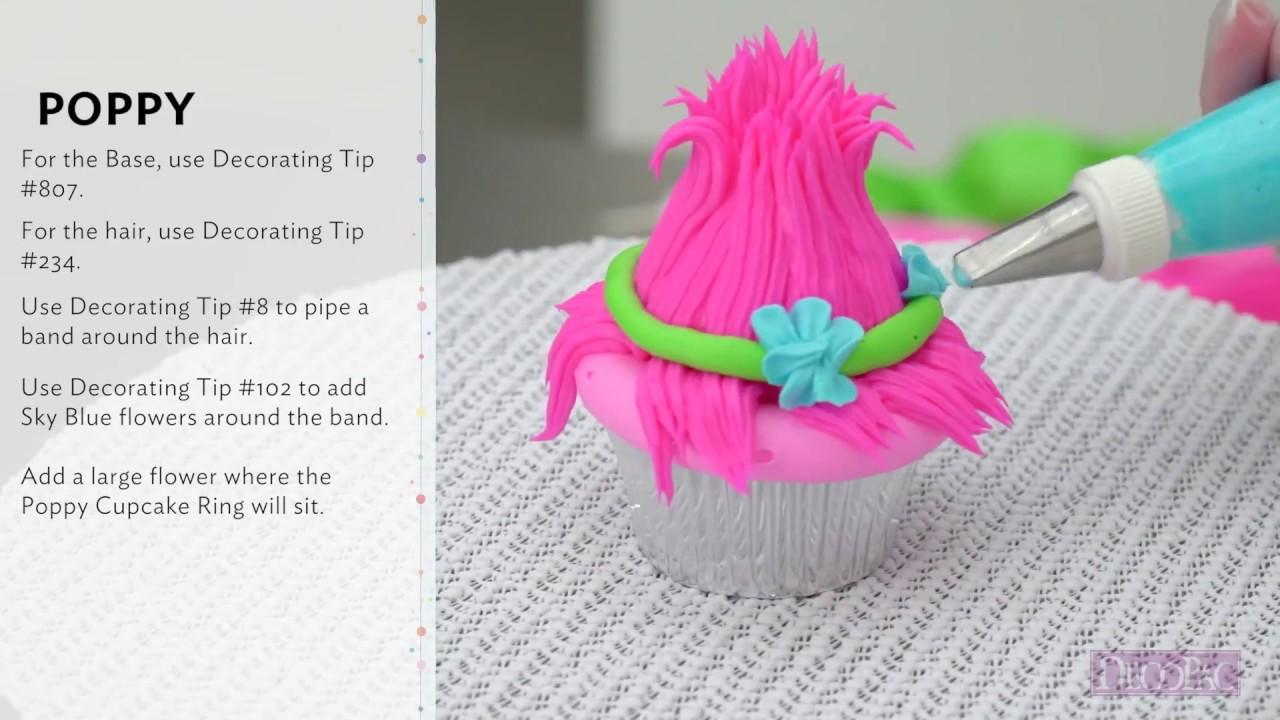 How To Make DreamWorks Trolls Cupcakes