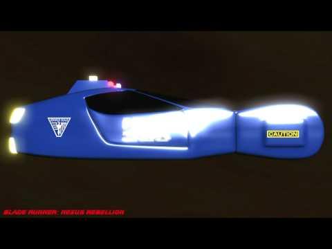 'Blade Runner: Nexus Rebellion' 3D animated cars turntable