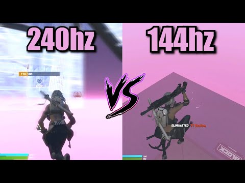 How Much Difference Does A 240Hz Monitor Make? | 240Hz VS 144Hz (HANDCAM)