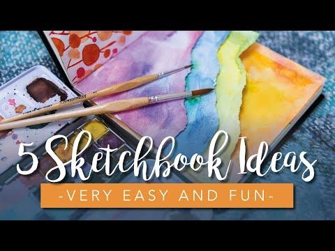Sketchbook Ideas for Beginners & Artists (Super easy)