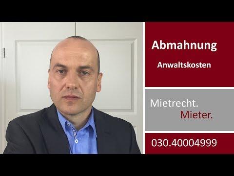 Mietrecht - Abmahnung - Kosten Des Vermieteranwalts   Fachanwalt Alexander Bredereck