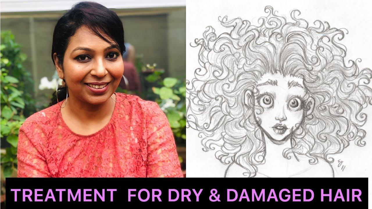 Hair treatment for dry & frizzy hair - YouTube