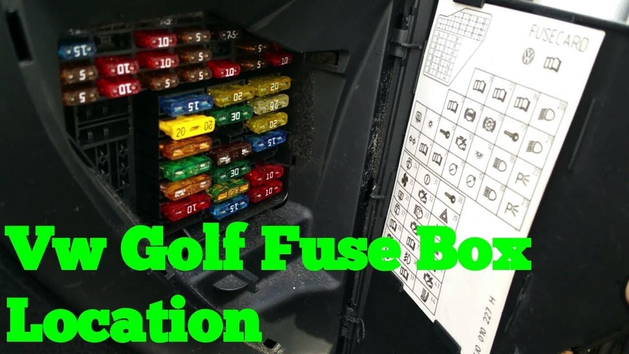 vw golf mk4 fuse box location [ 1280 x 720 Pixel ]
