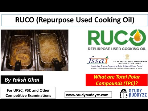 RUCO (Repurpose Used Cooking Oil) | What are Total Polar Compounds (TPC)? | For UPSC PSC SSC 2020