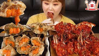 Mukbang | 🦀 Make and eat Ganjang Gejang and Yangnyeom Gejang of Korea. (Simple recipe)