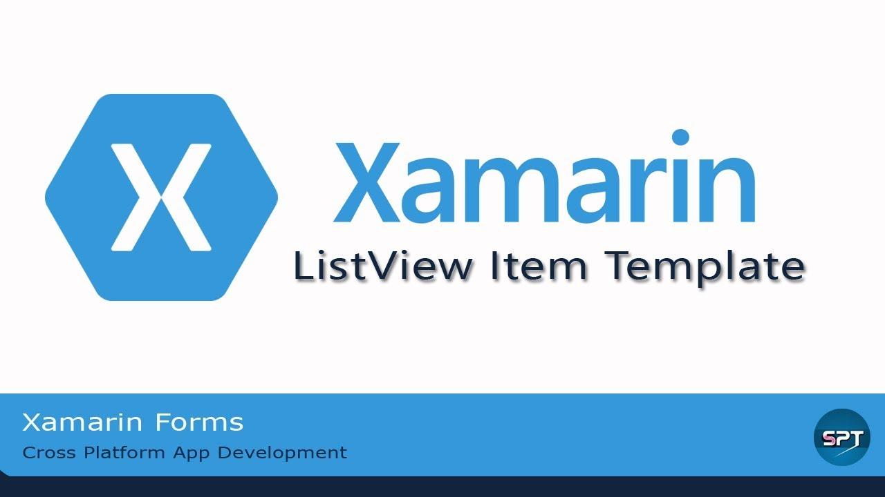 ListView,Data Binding & Item Template-Xamarin Forms in Hindi