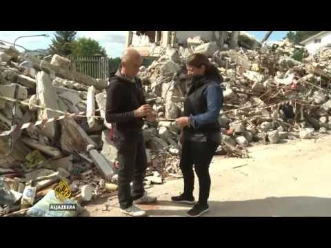 Italy  Earthquake town awaiting reconstruction one month on