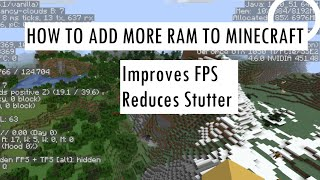 How to Allocate M๐re RAM to Minecraft 1.12, 1.13, 1.14, 1.15, 1.16, 1.17 (Add More RAM to Minecraft)