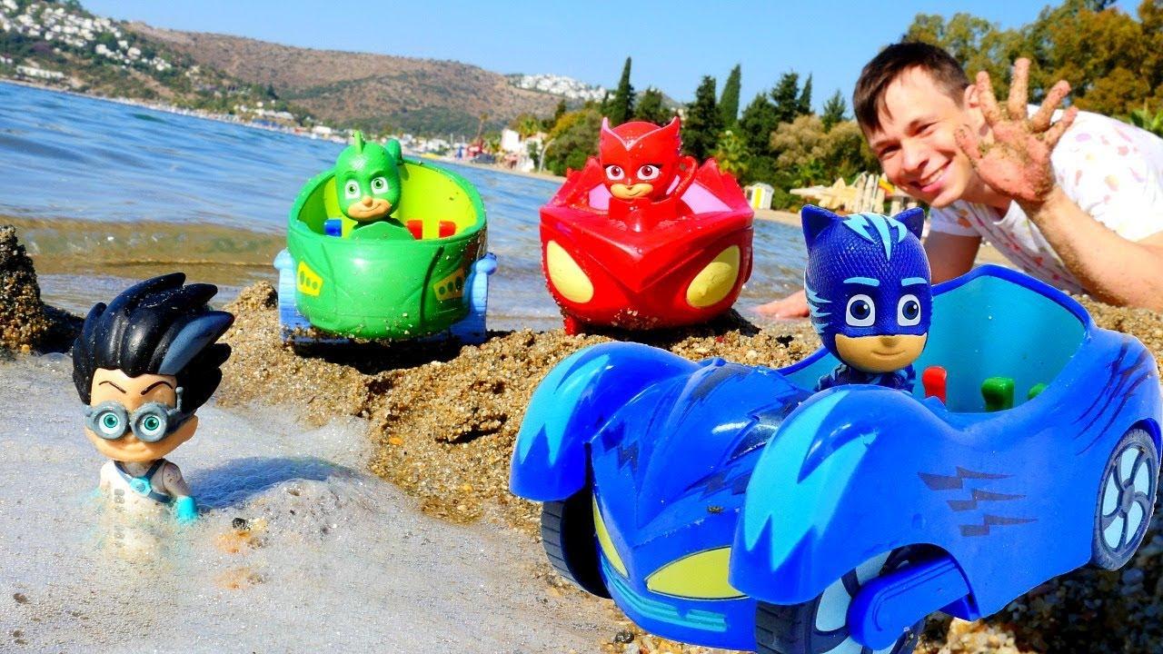 Фёдор устраивает гонки на пляже для Героев в Масках.