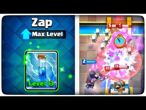 ZAP LEVEL 13! • MAX LEVEL ZAP SPELL • CLASH ROYALE GAMEPLAY