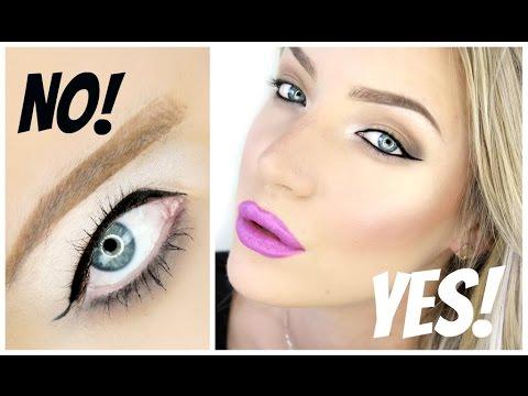 Winged Eyeliner Tutorial for Hooded Eyes! | Stephanie Lange - YouTube