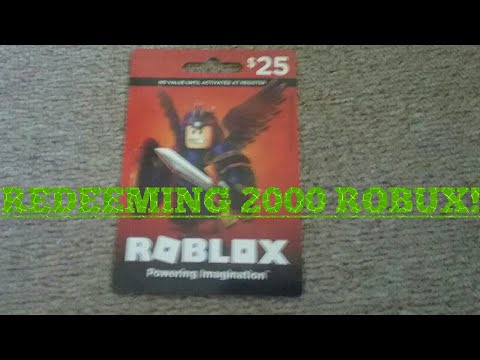 Redeeming My 25 Roblox Gift Card Youtube