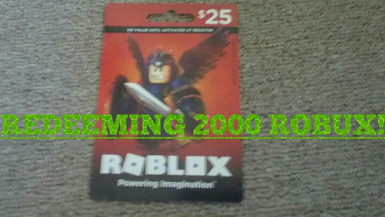 Redeeming my $25 ROBLOX gift card! - YouTube