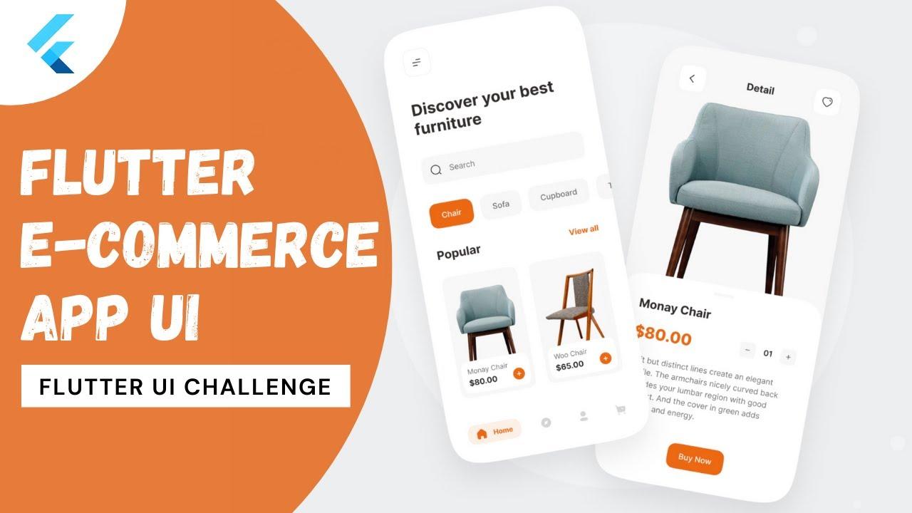 Flutter Ecommerce App UI   Flutter UI challenge (Flutter 2.0)