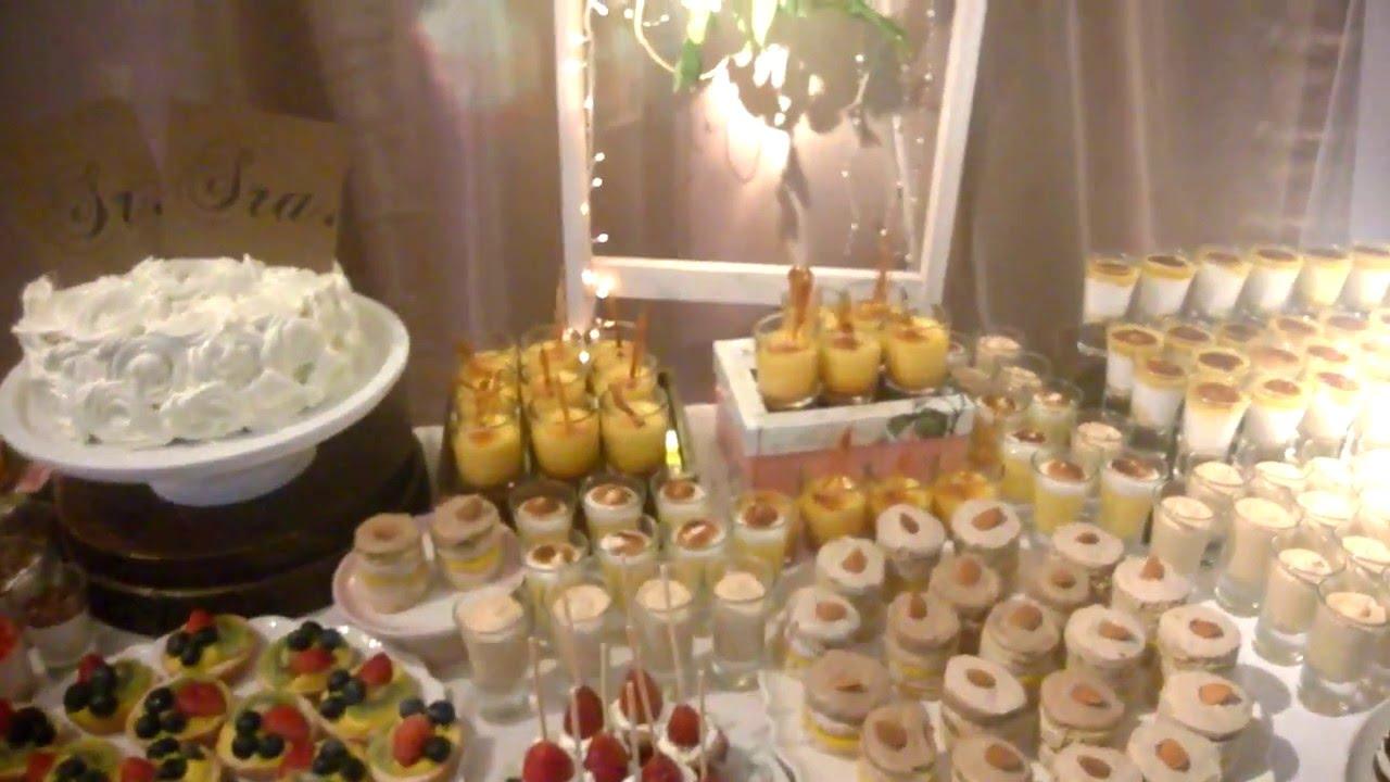 Del roc o catering mesa de mini postres y postres shots - Postres para mesa de dulces ...