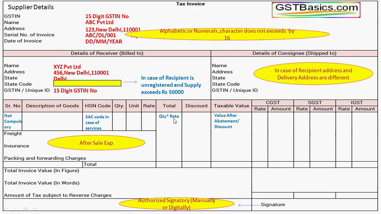 how to find tax invoice number