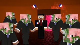When you aggro a Zombified Piglin in the Nether but it's the President of France