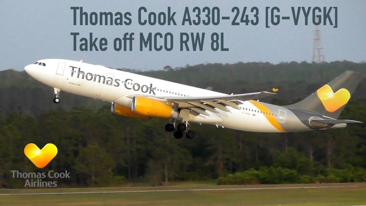 Thomas Cook A330 243 G Vygk Take Off Mco Rw 8l Youtube