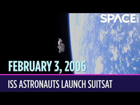 OTD in Space – February 3: ISS Astronauts Launch SuitSat